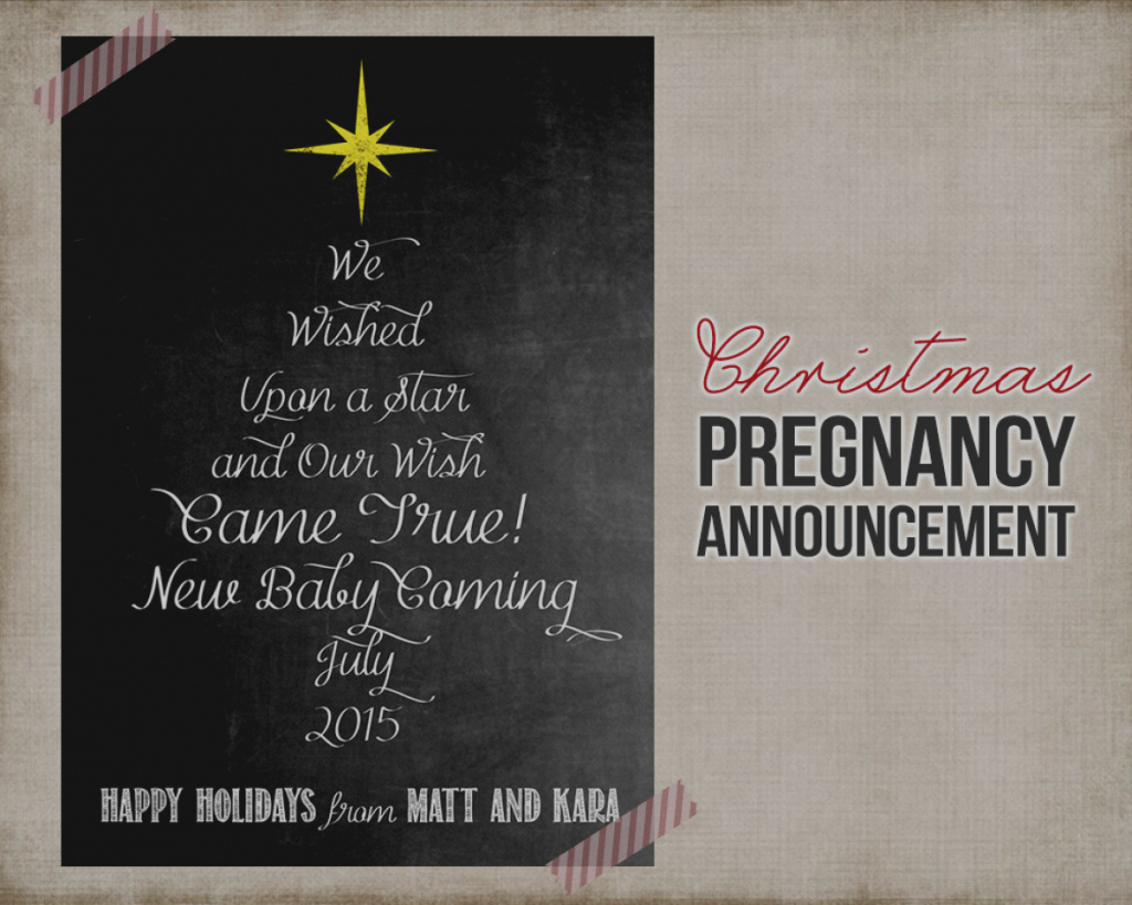 Pregnancy Announcement Card Template - Under.bergdorfbib.co | Free Printable Pregnancy Announcement Cards