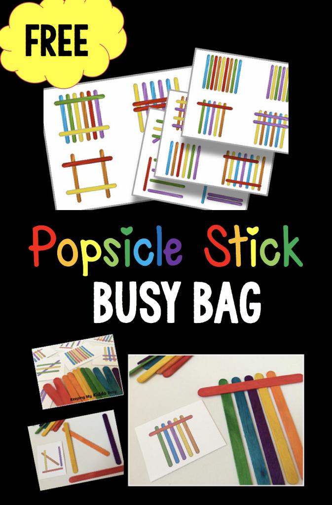 Preschool — Keeping My Kiddo Busy | Popsicle Stick Pattern Cards Printable