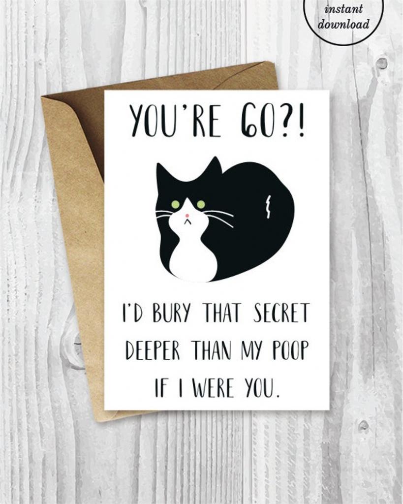 Printable 60Th Birthday Cards Funny Tuxedo Cat 60 Birthday | Etsy | Printable 60Th Birthday Cards