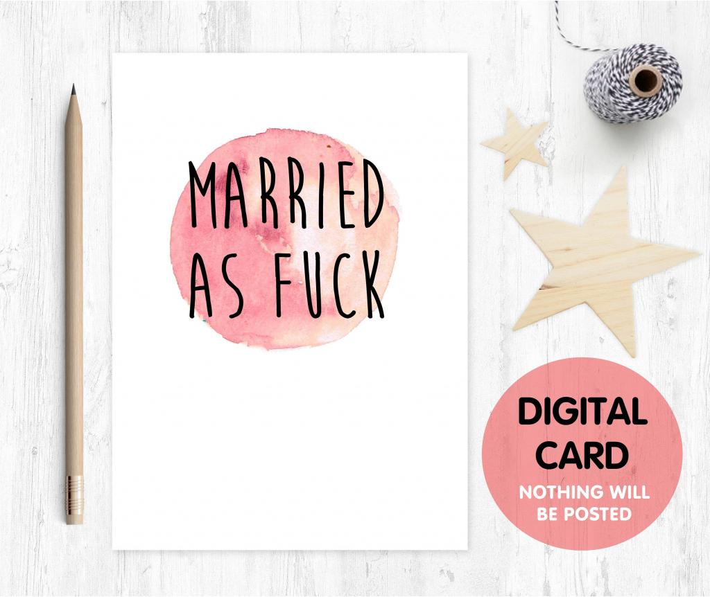 Printable Anniversary Card Rude Anniversary Card Funny | Etsy | Funny Printable Anniversary Cards