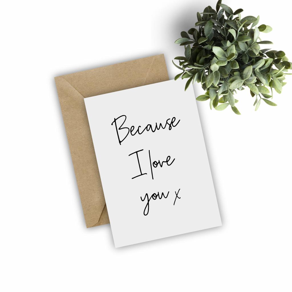 Printable Because I Love You Card Valentines Day Card Spouse | Etsy | Just Because I Love You Cards Printable