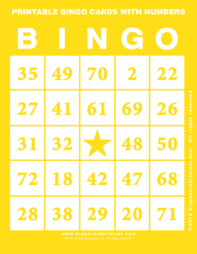 Printable Bingo Cards With Numbers - Bingocardprintout   Printable Number Bingo Cards
