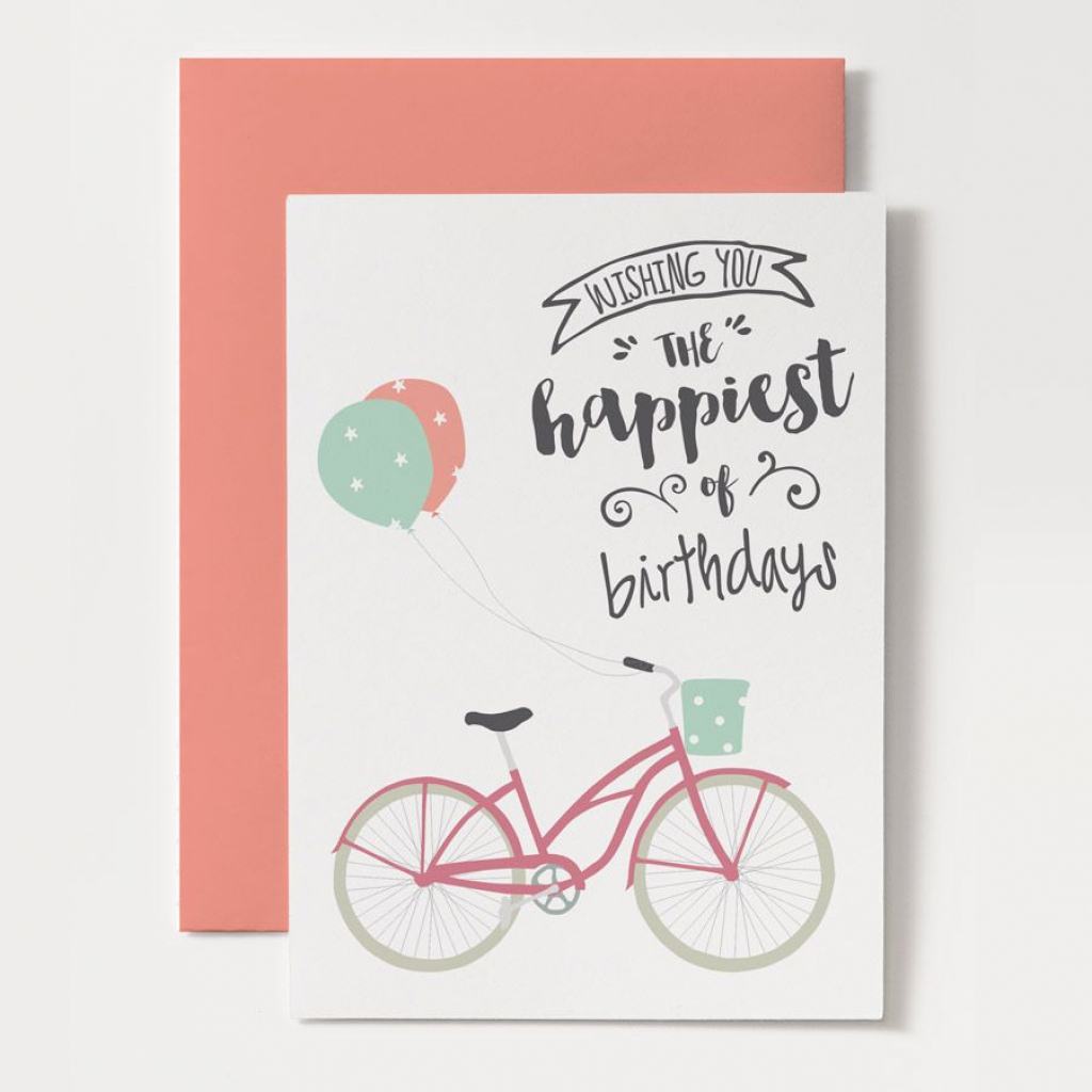 Printable Birthday Card - Bicycle Birthday | Printables | The Best | Printable Birthday Cards For Girls