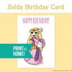 Printable Birthday Card Legend Of Zelda Gamer Etsy – Gamer Birthday   Hamilton Birthday Card Printable