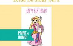 Printable Birthday Card Legend Of Zelda Gamer Etsy – Gamer Birthday | Hamilton Birthday Card Printable