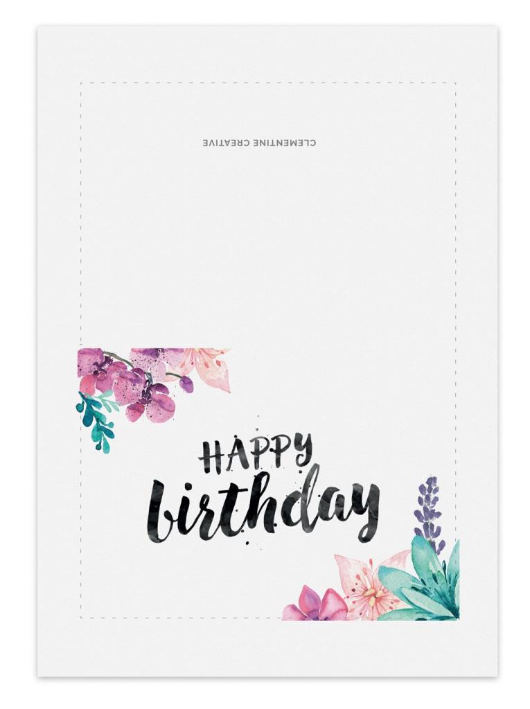 Printable Birthday Card - Secret Garden | Gift Ideas | Birthday | Printable Birthday Cards For Girls