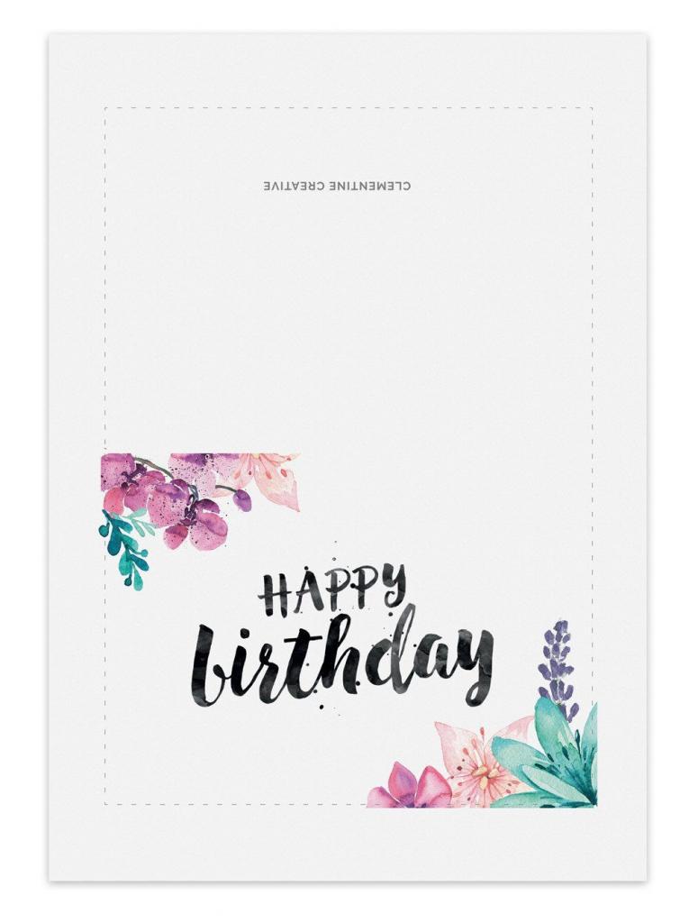 Printable Birthday Card - Secret Garden   Greeting And Gift Cards   Printable Birthday Cards For Her