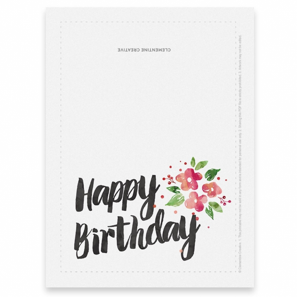 Printable Birthday Cards Foldable   Papers And Essays   Printable Birthday Cards Foldable