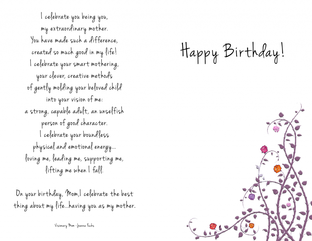 Printable Birthday Cards For Mom – Happy Holidays!   Printable Birthday Cards For Mom