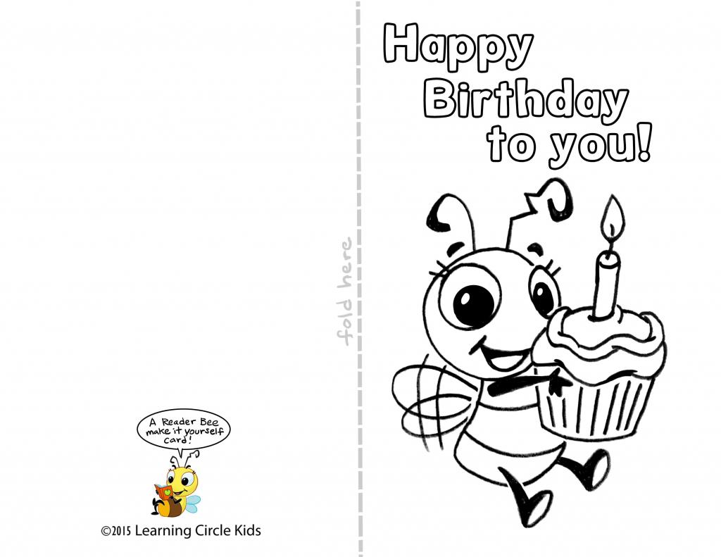 Printable Birthday Cards For Students   Zwonzorg   Printable Birthday Cards Foldable