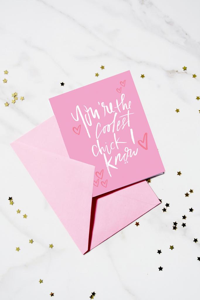 Printable Birthday/friendship Card - You're The Coolest Chick I Know | Printable Friendship Cards Friends