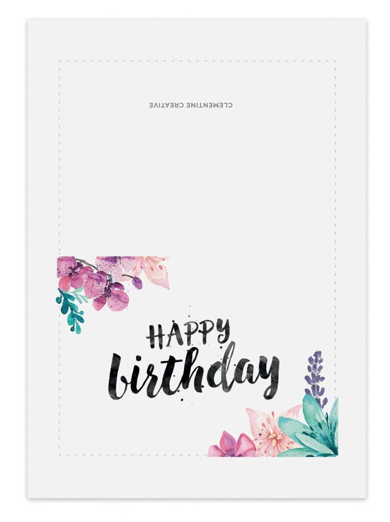 Printable Birthdays Cards - Under.bergdorfbib.co   Printable Birthday Cards Foldable