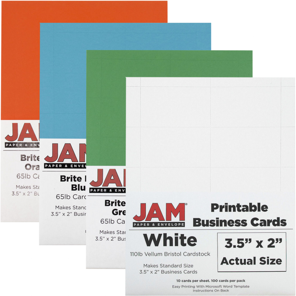 Printable Business Cards: 3 1/2 X 2   Jam Paper   Printable Business Card Template