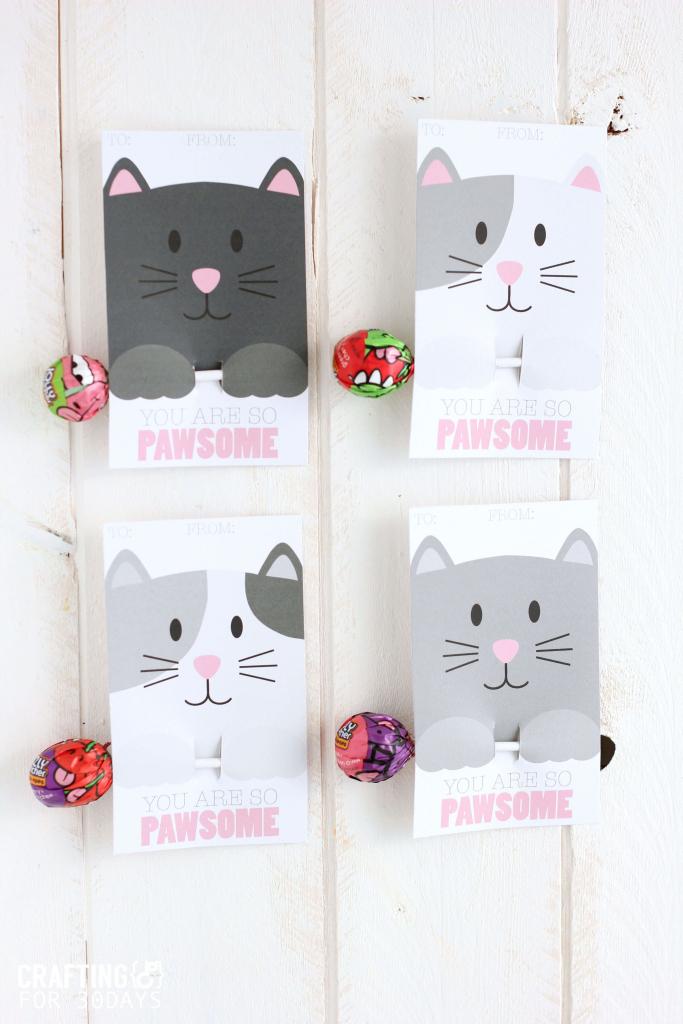 Printable Cat Valentine Day Cards | Be Mine Valentine! | Valentines | Free Printable Cat Valentine Cards