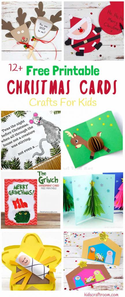 Printable Christmas Cards For Kids - Kids Craft Room   Printable Christmas Cards For Kids