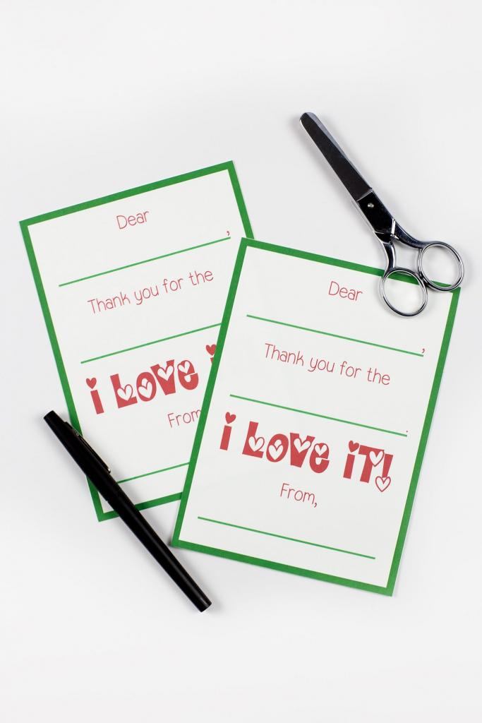 Printable Christmas Thank You Cards | Christmas Thank You Cards Printable Free