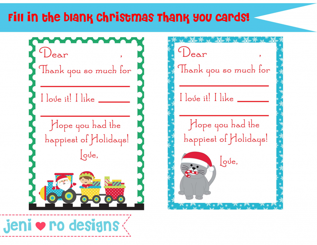 Printable Christmas Thank You Cards – Happy Holidays! | Printable Christmas Thank You Cards