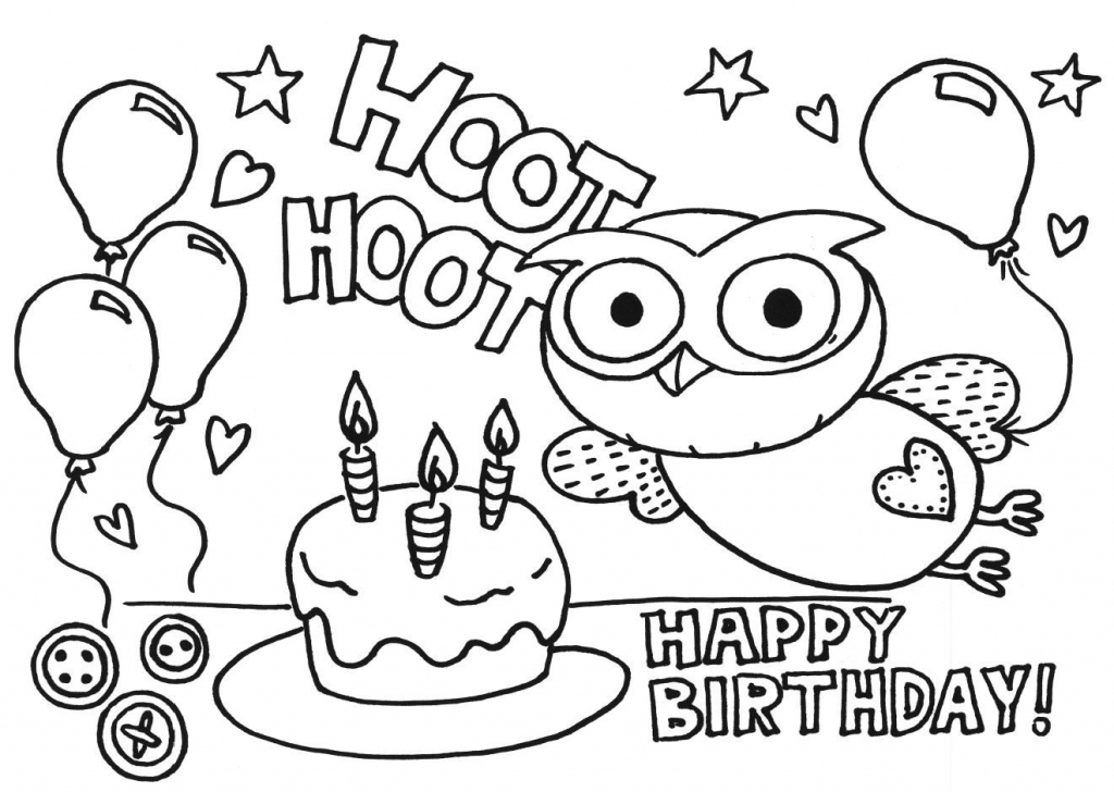 Printable Coloring Birthday Cards For Nana - Coloring - Coloring Home   Printable Coloring Birthday Cards