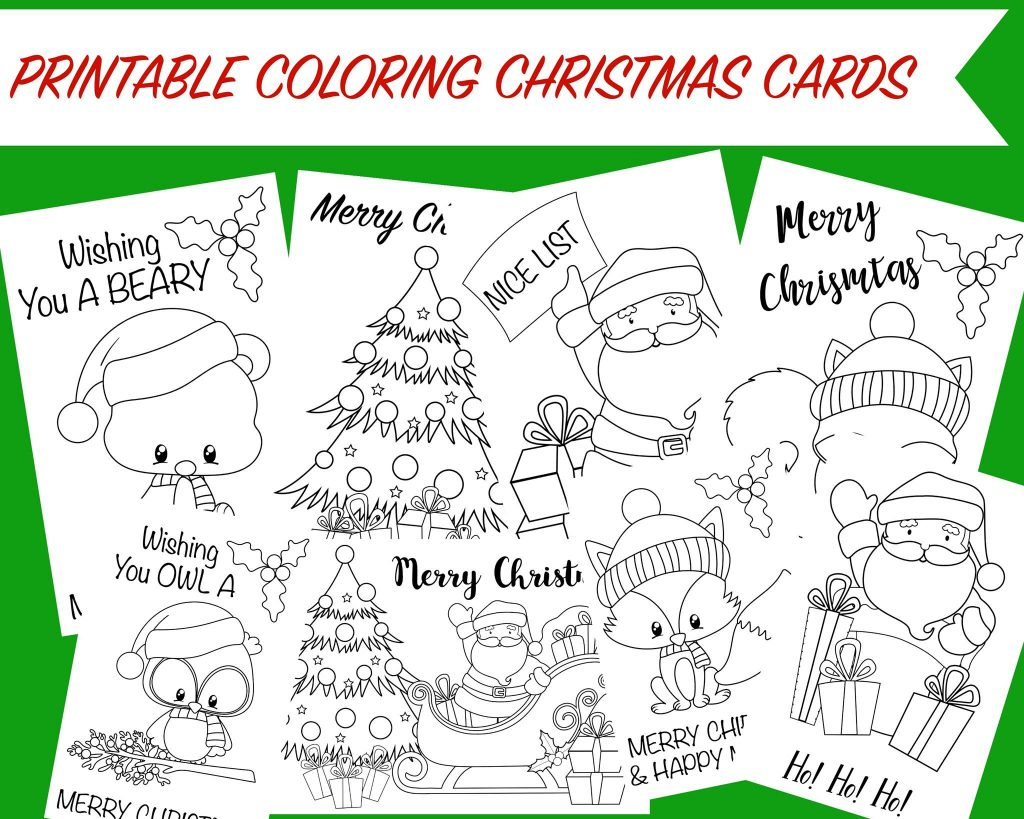 Printable Coloring Christmas Cards -Wunder-Mom | Free Printable Christmas Cards To Color