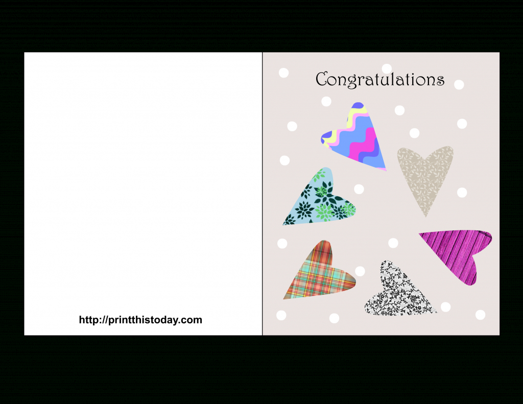 Printable Congrats Cards - Kleo.bergdorfbib.co | Free Printable Congratulations Cards