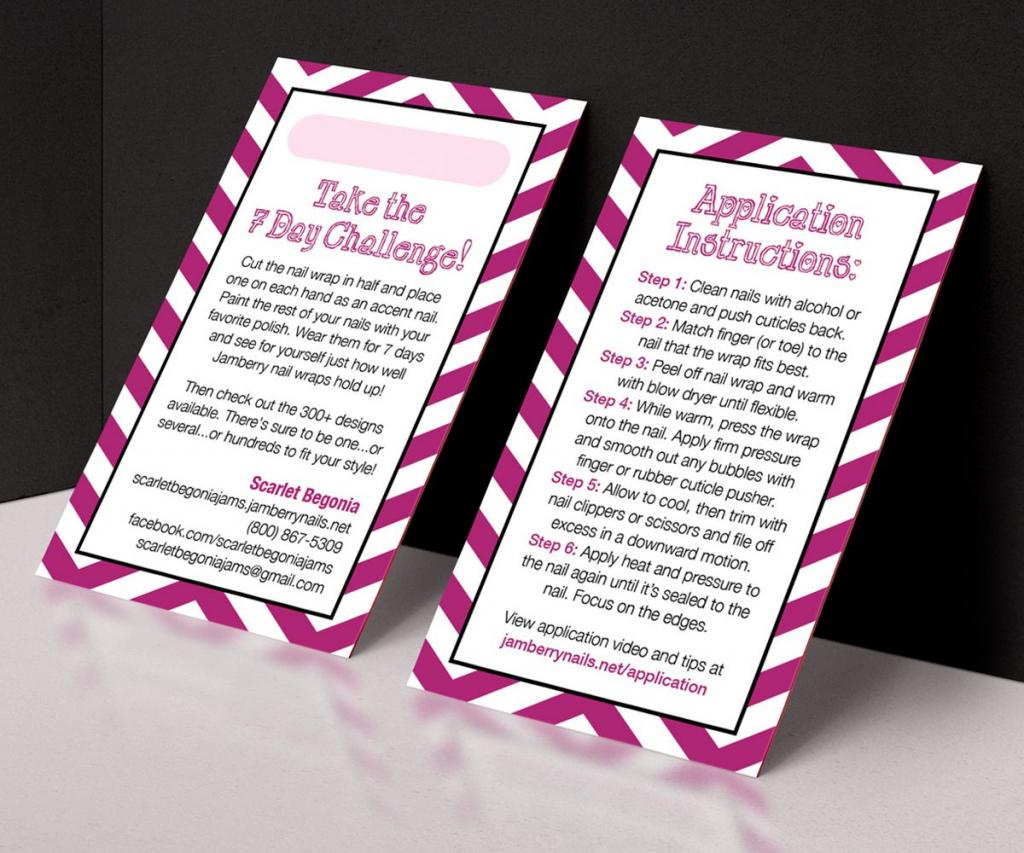 Printable Customizable Jamberry 7 Day Challenge Sample Card | Jamberry 7 Day Challenge Cards Printable