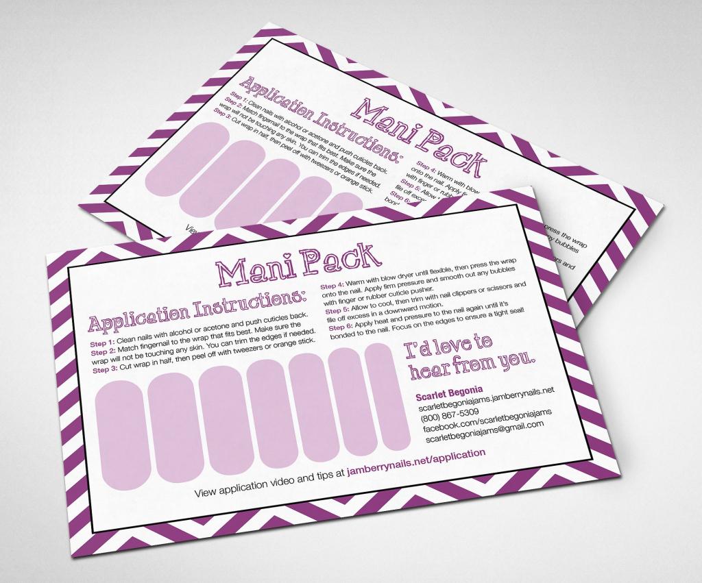 Printable Customizable Jamberry Mani Pack Card! #jamberry | Jamberry 7 Day Challenge Cards Printable
