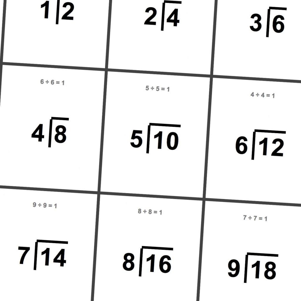 Printable Division Flashcards! | Math Worksheets | Math Worksheets | Free Printable Division Flash Cards