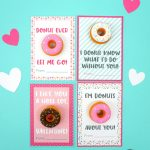Printable Donut Valentine Cards – Happiness Is Homemade | Frozen Valentine Cards Printable