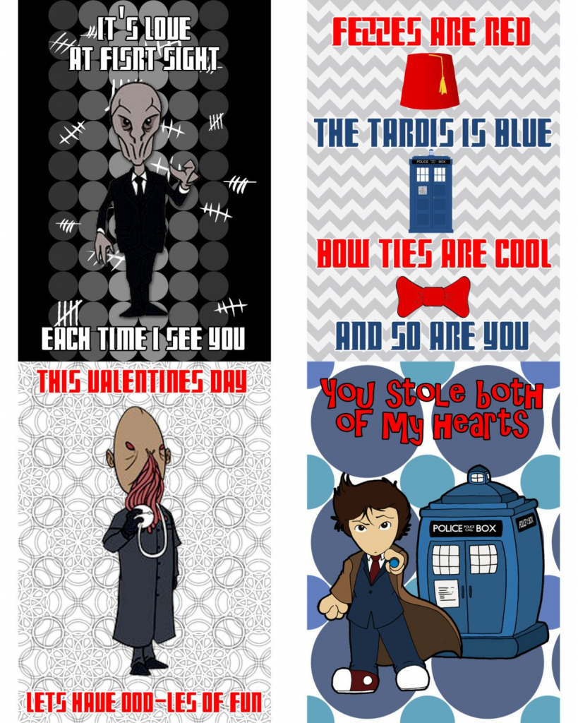 Printable Dr. Who Valentine's Day Cards | Valentines | Doctor Who | Doctor Who Valentine Cards Printable
