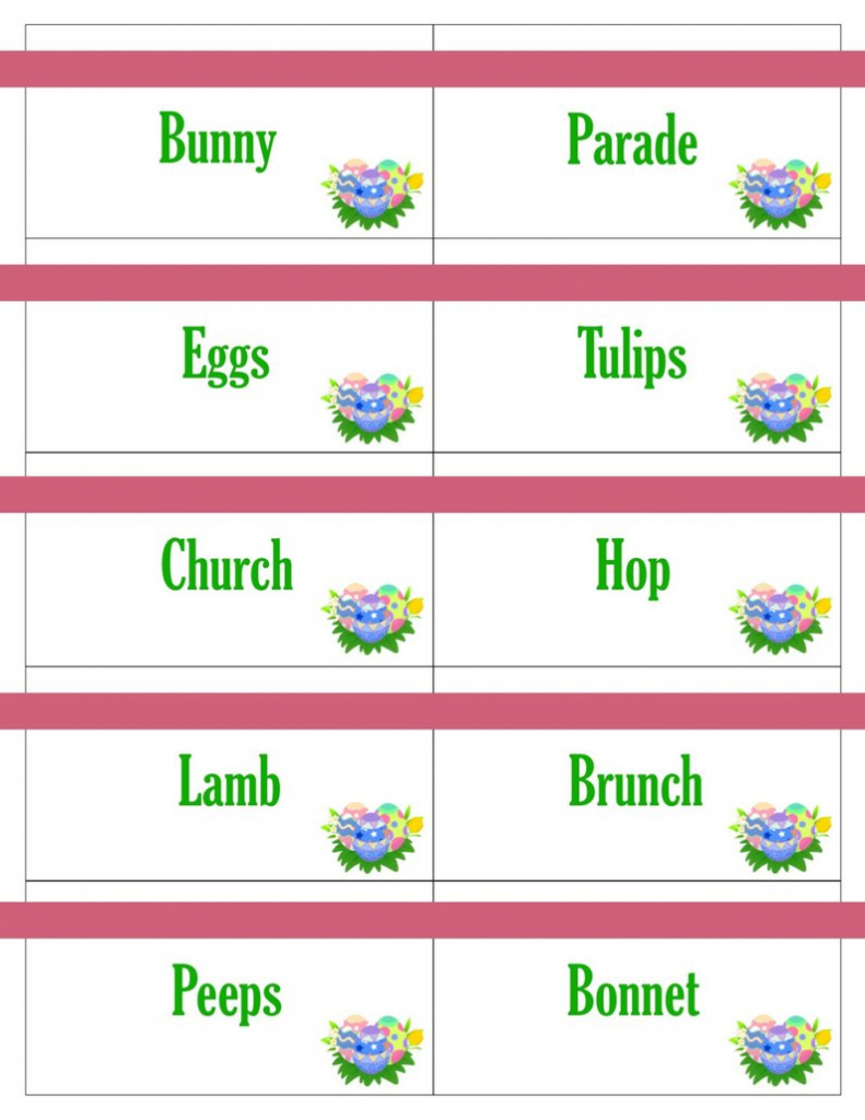 Printable Easter Game Cards For Pictionary Charades Hangman   Etsy   Free Printable Pictionary Cards