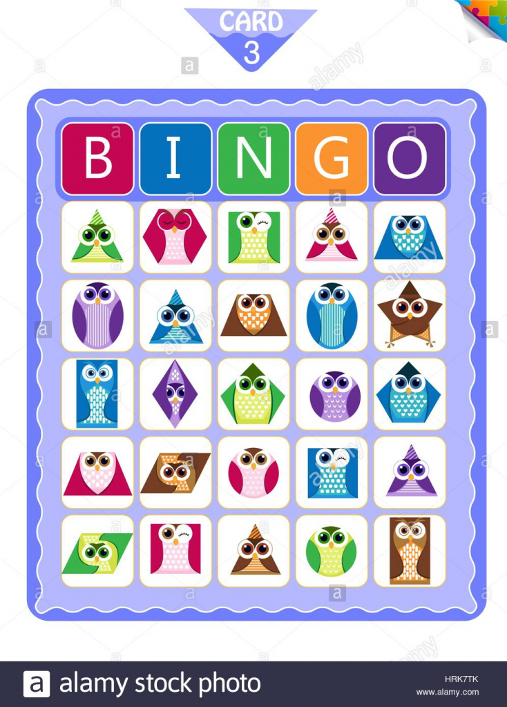Printable Educational Bingo Game For Preschool Kids With Shapes In   Shapes Bingo Cards Printable
