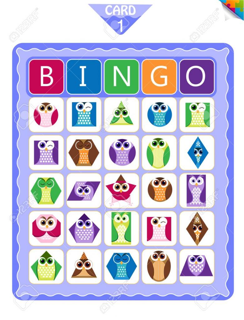 Printable Educational Bingo Game For Preschool Kids With Shapes   Shapes Bingo Cards Printable