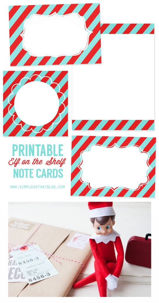 Printable Elf On The Shelf Note Cards | Simple As That Blog | Elf On | Elf On The Shelf Printable Note Cards