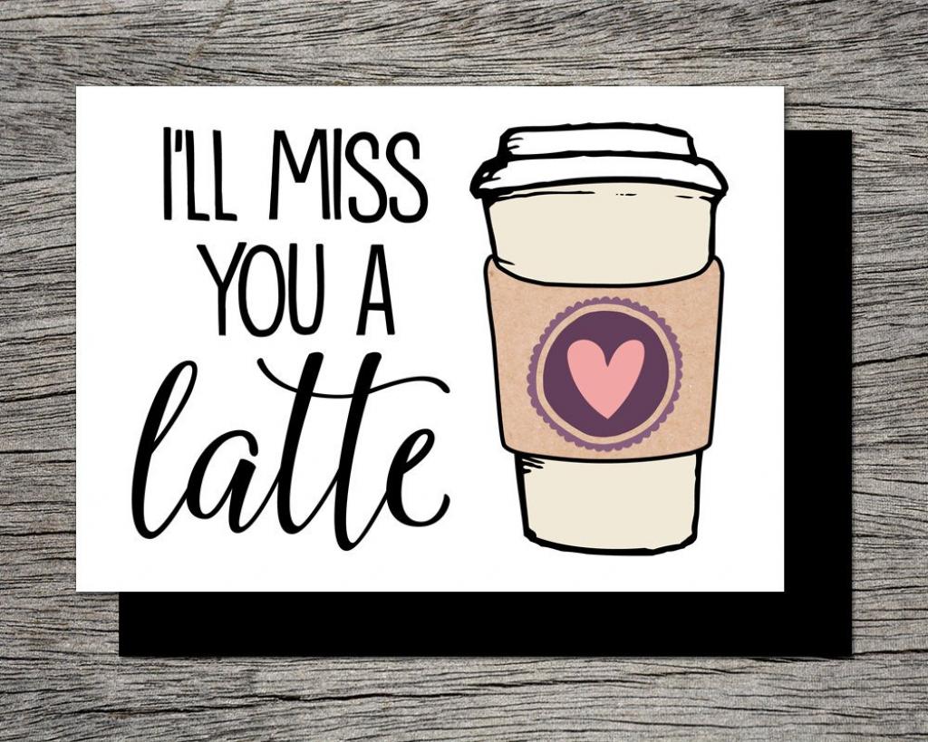 Printable Farewell Card /printable Goodbye Card I'll | Etsy | Printable Goodbye Cards For Students