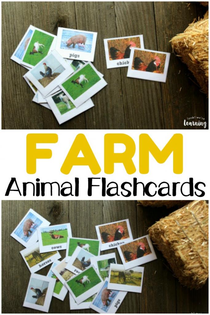 Printable Farm Animal Flashcards - Look! We're Learning! | Free Printable Farm Animal Flash Cards