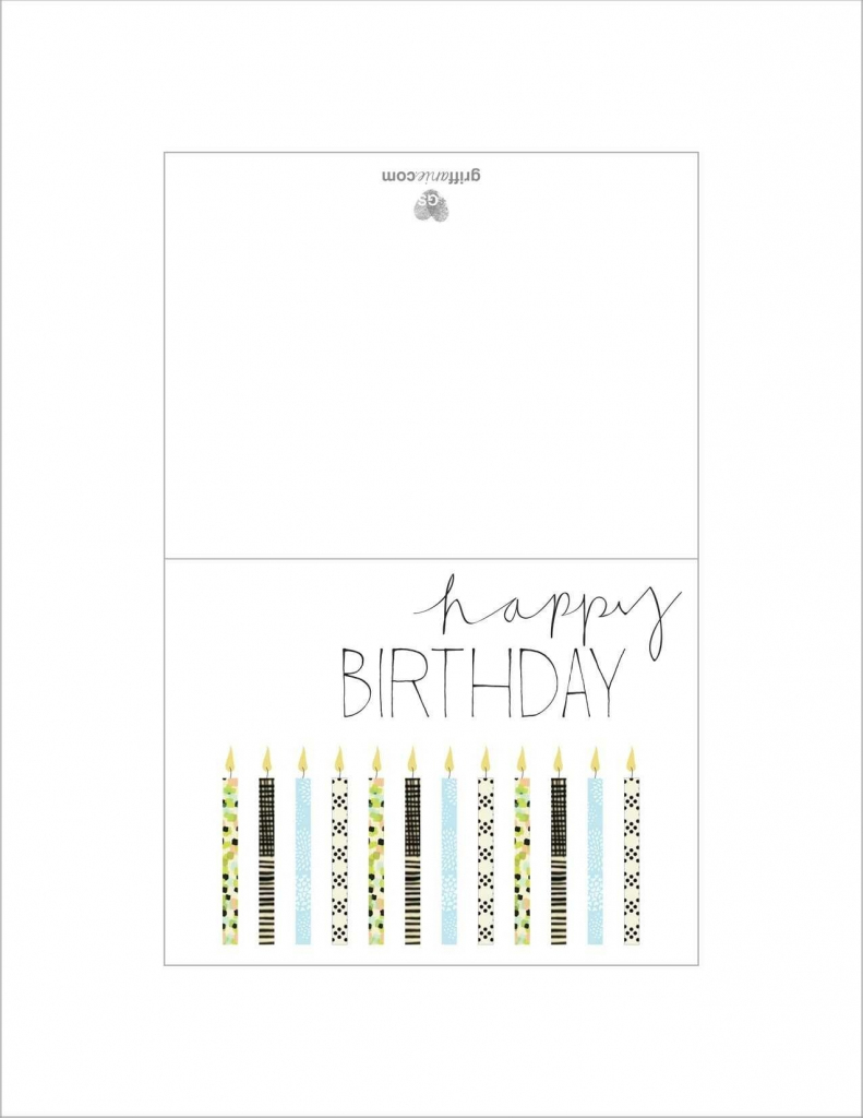 Printable Father Birthday Cards – Happy Holidays!   Printable Father Birthday Cards