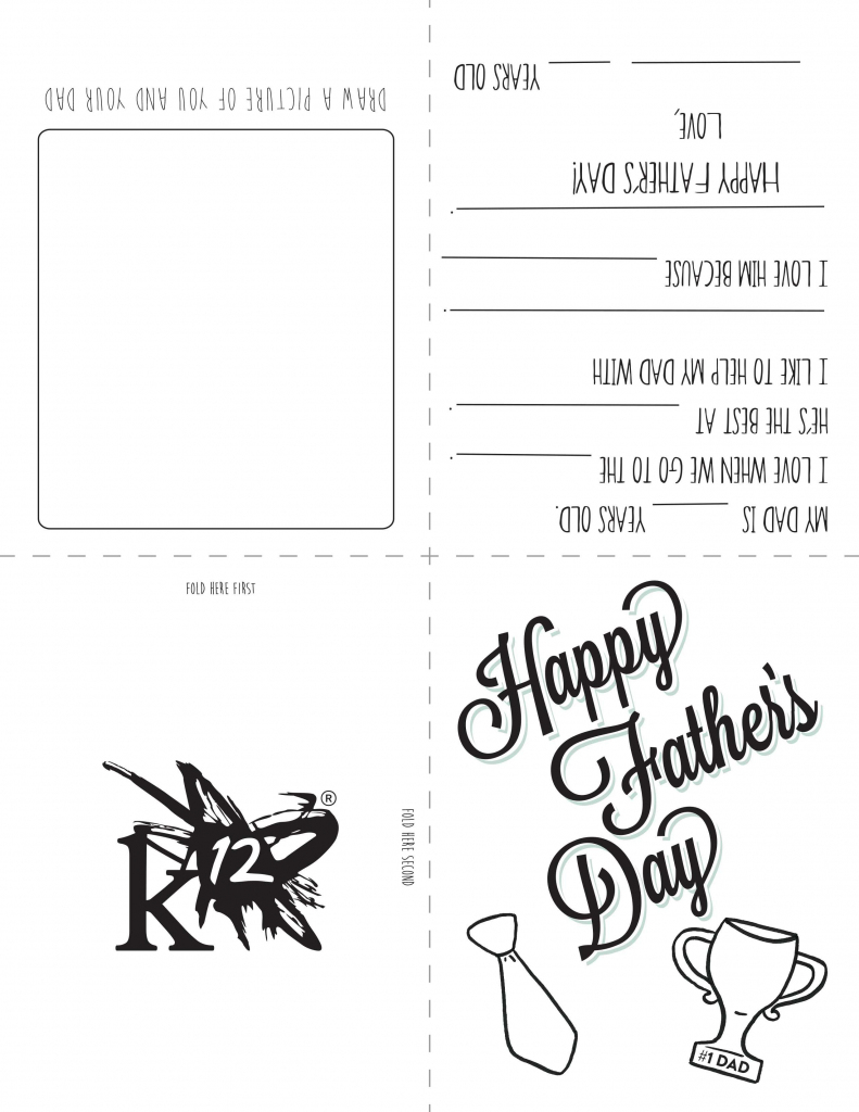 Printable Father's Day Card For Kids To Make | Holidays- Fathers Day | Printable Fathers Day Cards For Kids
