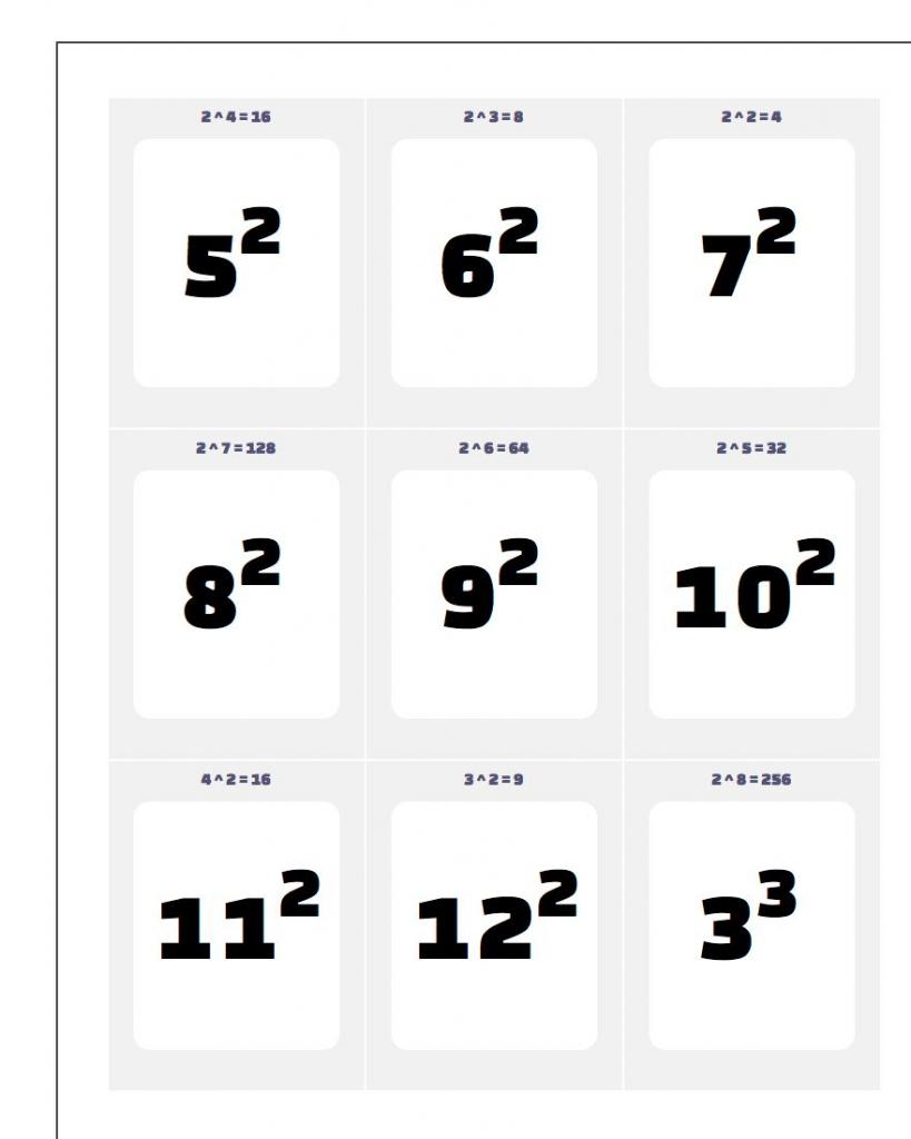 Printable Flash Cards | Free Printable Multiplication Flash Cards