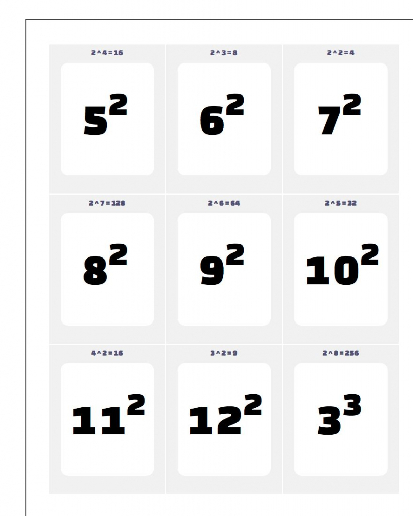 Printable Flash Cards | Multiplication Flash Cards Printable