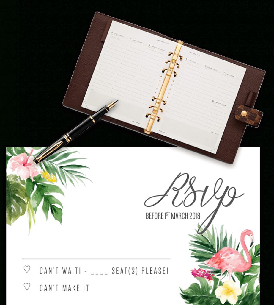 Printable Free Wedding Rsvp Template & Cards Microsoft Word | Free Printable Rsvp Cards
