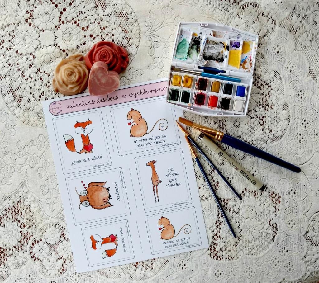 Printable French Valentines / French Animal Valentines / | Etsy | Printable French Valentines Cards