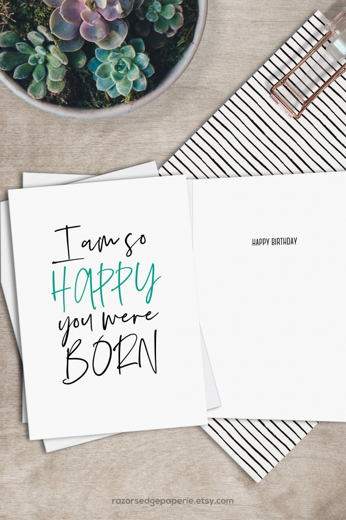 Printable Funny Birthday Card Instant Download Digital Greeting Card   Free Printable Funny Birthday Cards For Adults