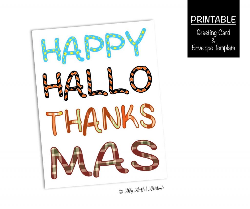 Printable Funny Holiday Card Halloween Thanksgiving   Etsy   Printable Funny Thanksgiving Greeting Cards
