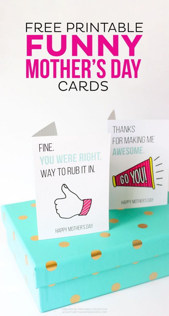 Printable Funny Mother's Day Cards | All Things Printable | Printable Mom's Day Cards
