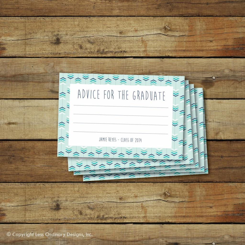 Printable Graduation Advice Cards Editable Pdf Instant | Etsy | Free Printable Graduation Advice Cards