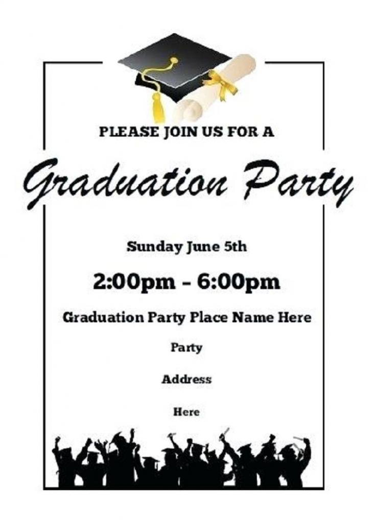 Printable Graduation Party Invitations | Party Invitation Card | Graduation Invitation Cards Printable