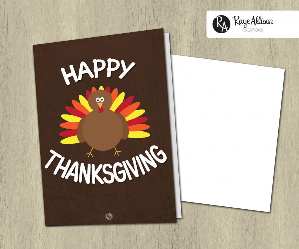 Printable Greeting Card Happy Thanksgiving Thanksgiving | Thanksgiving Printable Greeting Cards