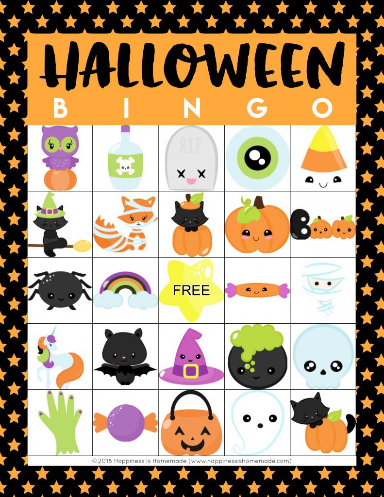Printable Halloween Bingo Cards - Happiness Is Homemade   Free Printable Halloween Cards
