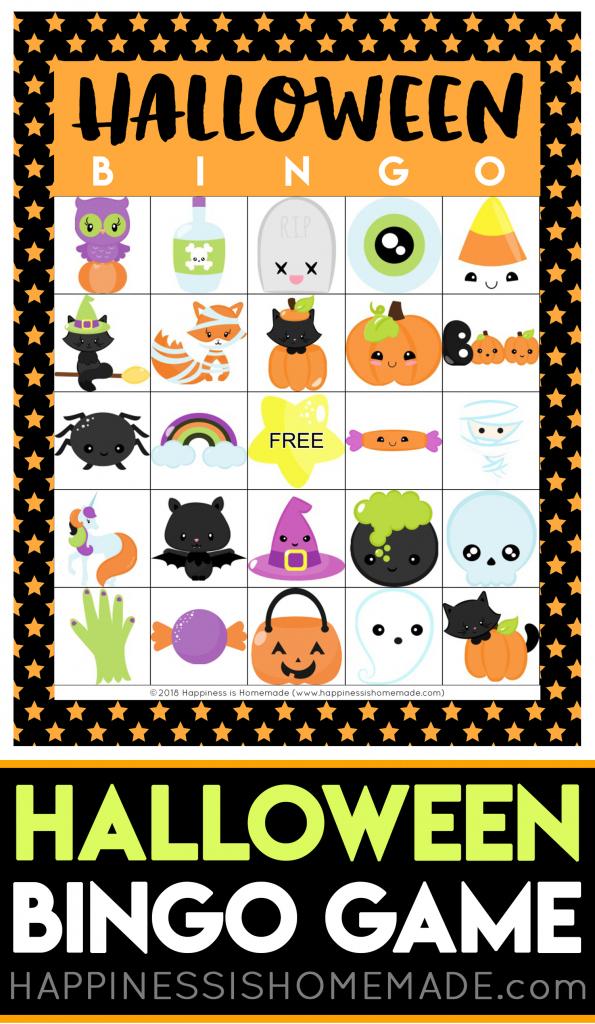Printable Halloween Bingo Cards - Happiness Is Homemade | Fun Printable Halloween Bingo Cards