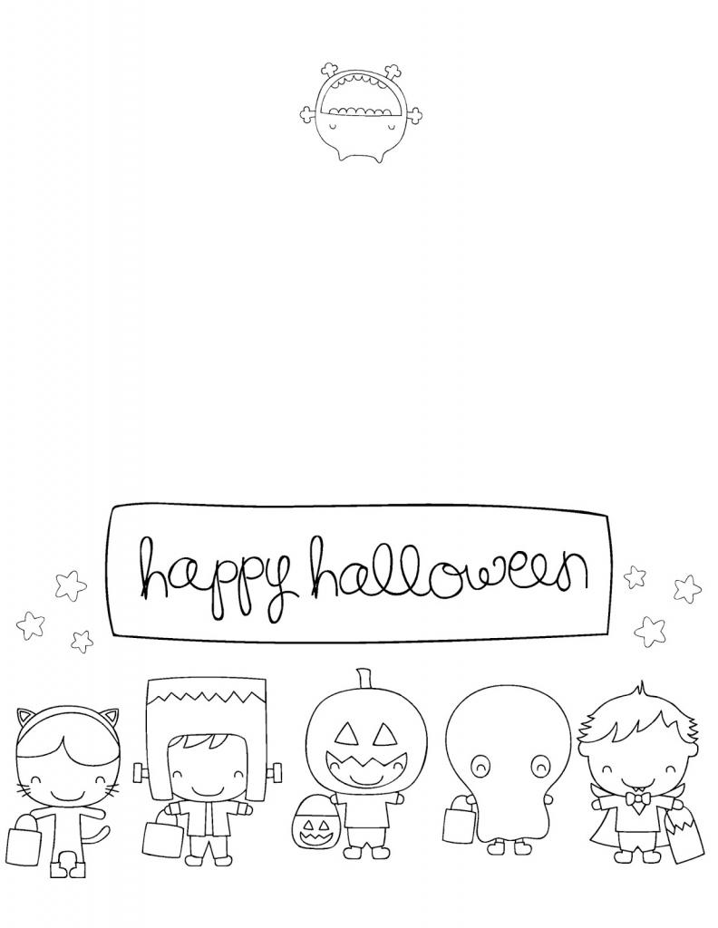 Printable Halloween Cards To Color - Acmsfsu   Printable Halloween Cards To Color For Free